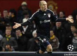 Golul superb al lui Robben o califica pe Bayern dupa 2-3 cu Manchester United