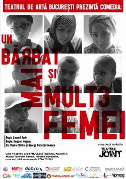 Teatrul JOINT prezinta spectacolul in PREMIERA UN BARBAT SI MAI MULTE FEMEI