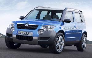 Imagini noi cu Skoda Yeti, SUV-ul care va fi lansat in 2009