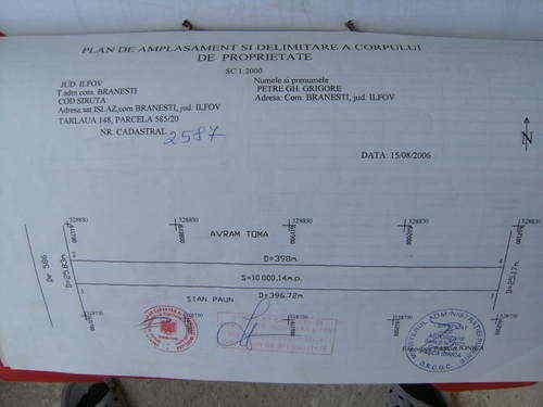 Teren Extravilan Localitatea Branesti sat Islaz Judetul Ilfov