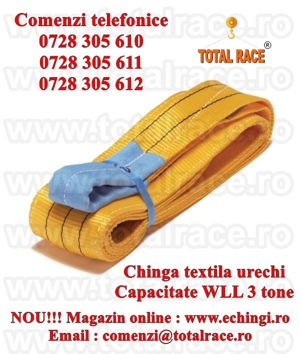 Sufe ridicare textile urechi 3 tone 1 metru