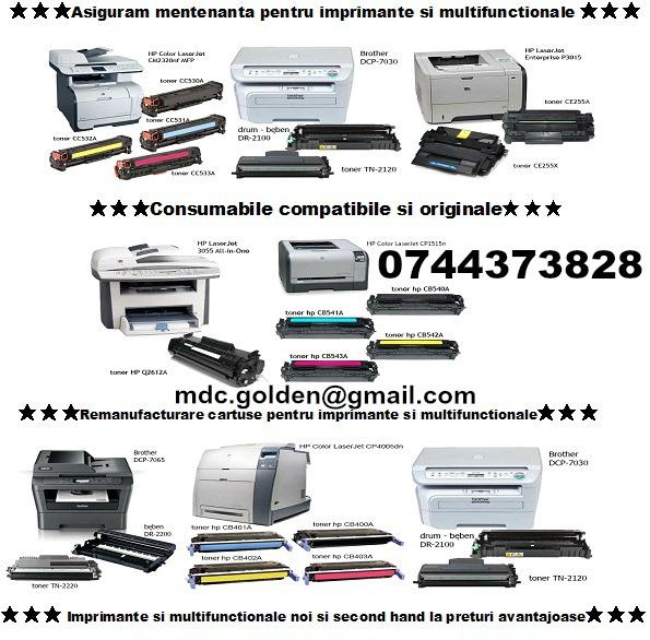 Cu proba cartuse pentru imprimante, multifunctionale, copiatoare si faxuri.