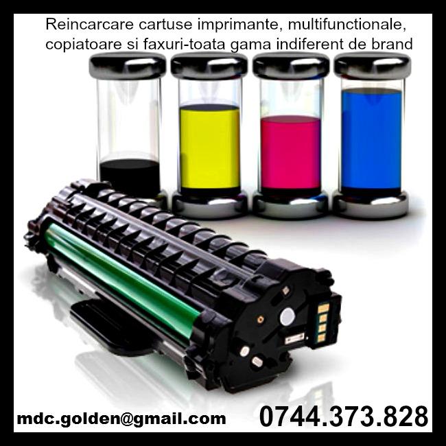 Toner incarcari cartuse imprimante copiatoare vanzare consumabile.