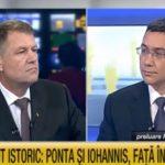 """VIDEO În 2014, candidatul Iohannis îl acuza pe Ponta că refuză """"cu aroganță"""" dezbaterile pentru turul II / În 2019, refuză el pe motiv că invitația PSD este """"o manevră"""" – Esential"""