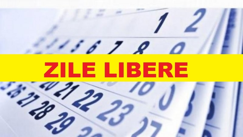 Zile libere in anul 2020