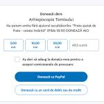 Arhiepiscopia Tomisului anunţă că pot fi trimise pomelnice prin PayPal, odată cu donaţiile – Esential